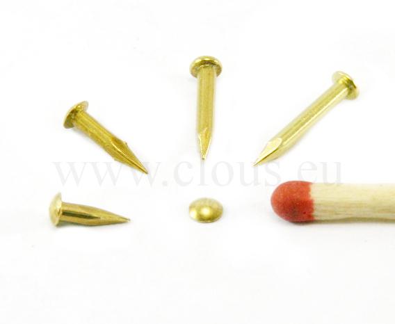 Clou lozine laiton (2000 clous) L : 11 mm - Ø 1.5 mm
