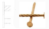 Tige crantée / torsadée / annelée cuivre