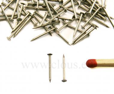 Pointe Miniature Tête plate Acier (30g) L : 9 mm - Ø 0.8 mm