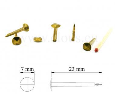 Clou forgé Laiton (100 clous) L : 23 mm - Ø 8 mm