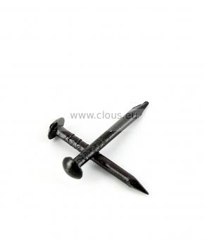 Pointe à crêter acier vernis noir Ø 1.5 mm