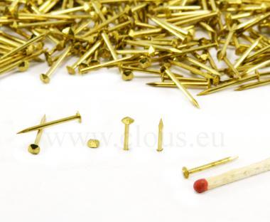 Pointe laiton tête diamant (1kg) L : 17 mm - Ø 1.2 mm